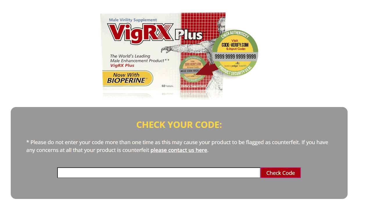 VigRX Plus counterfeit check